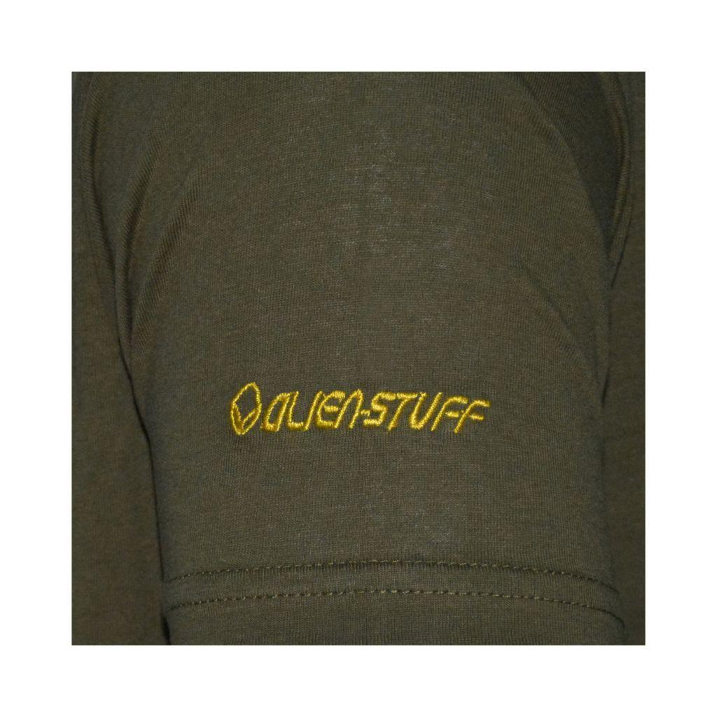 T-shirt homme en coton avec pentagramme Jake kaki 297423