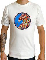 T-shirt homme en coton blanc avec Phoenix coloré Clayton 297245