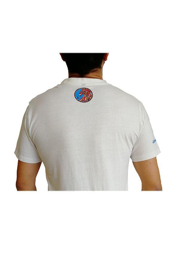 T-shirt homme en coton blanc avec Phoenix coloré Clayton 297249