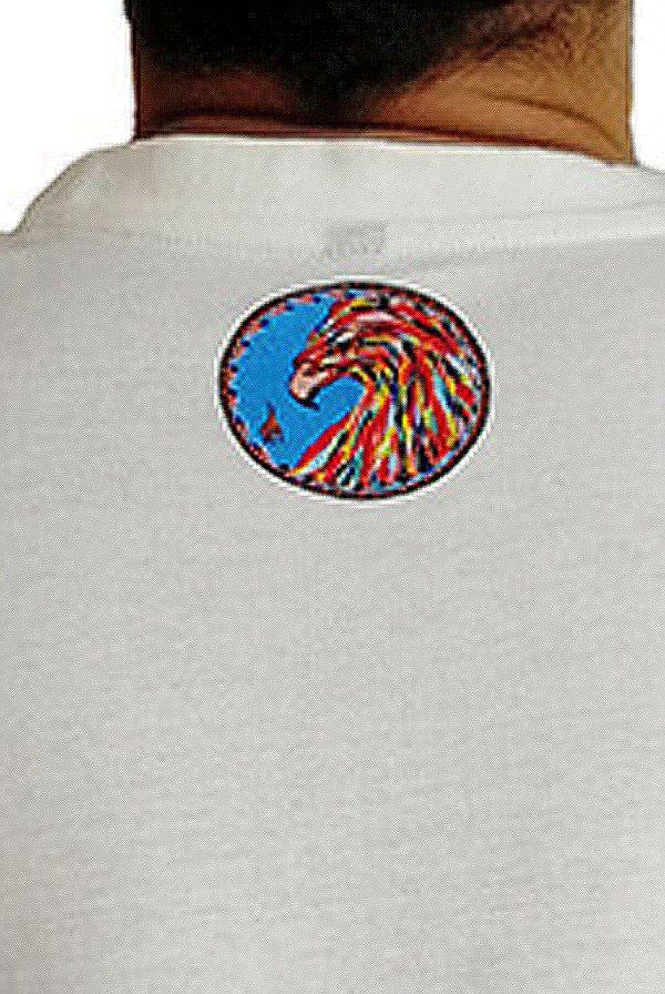 T-shirt homme en coton blanc avec Phoenix coloré Clayton 297250