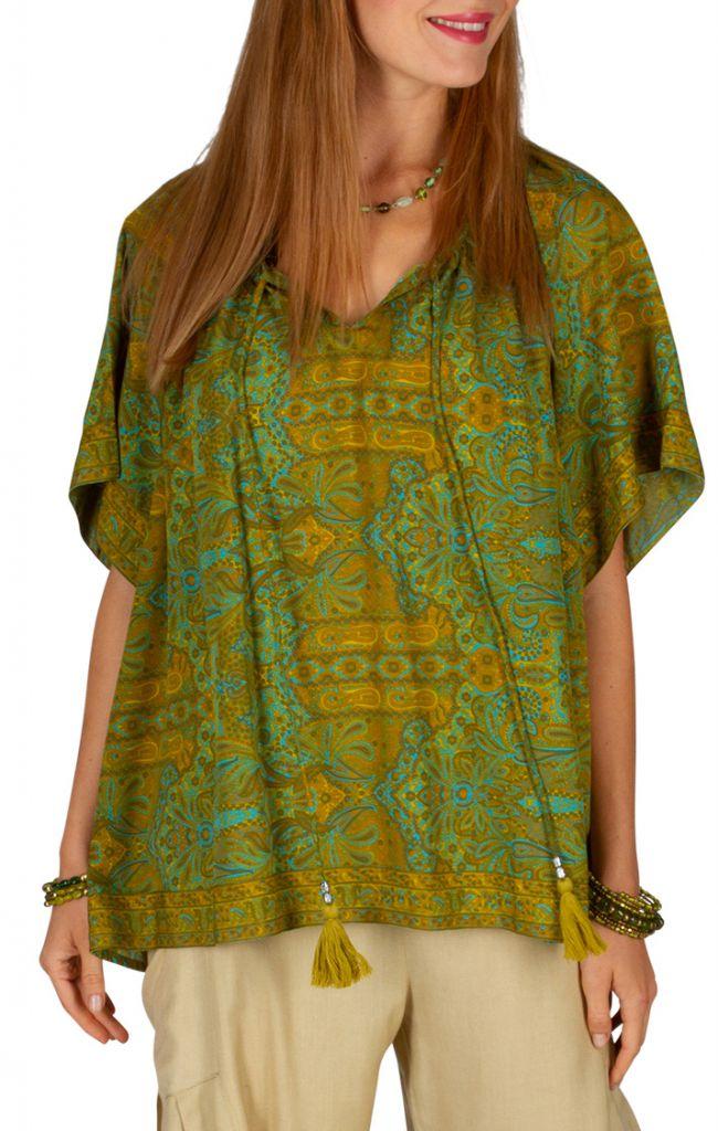 T-shirt imprimé et ample pour femme style bohème baba Cindy 305992