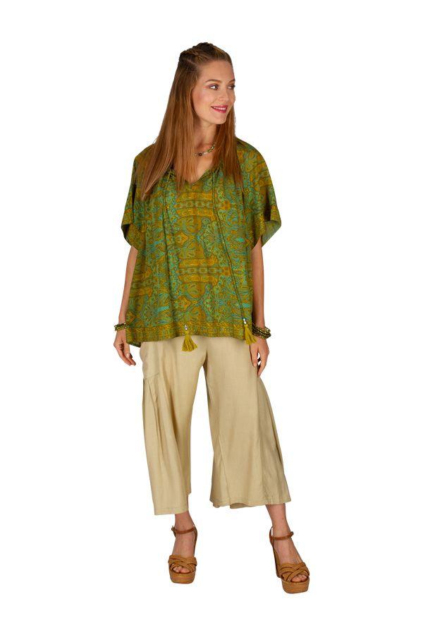 T-shirt imprimé et ample pour femme style bohème baba Cindy 305993