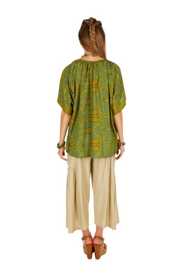 T-shirt imprimé et ample pour femme style bohème baba Cindy 305994