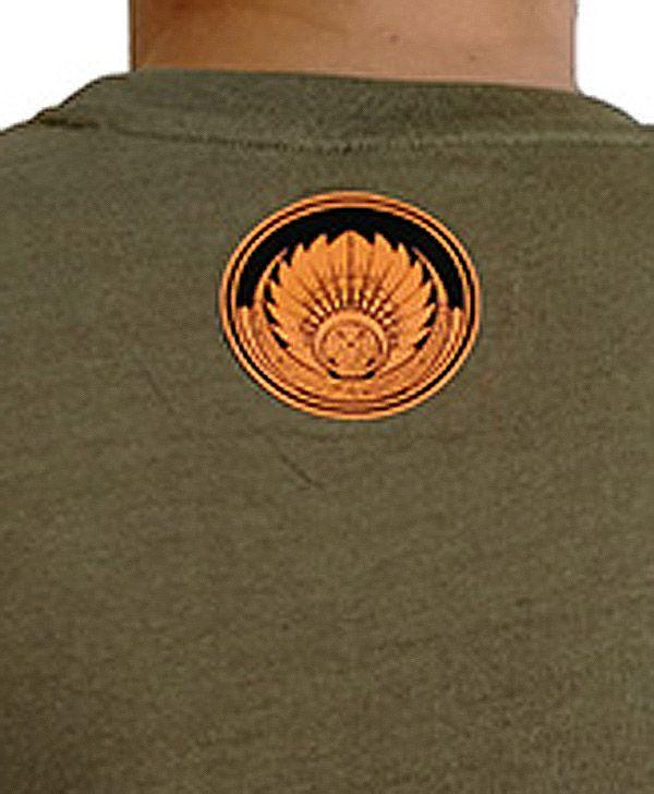 T-shirt Kaki en coton pour homme coupe droite et logo original coloré James 297320