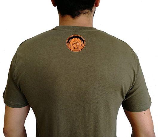 T-shirt Kaki en coton pour homme coupe droite et logo original coloré James 297321