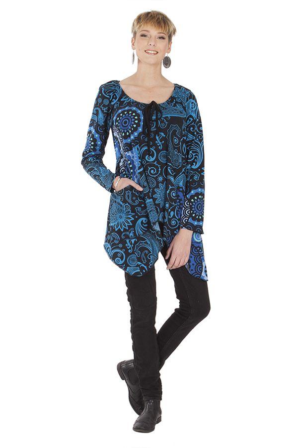 T-shirt long pour femme tendance original et chic Greta 285625