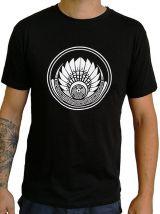 T-shirt Noir en coton pour homme coupe droite et logo original maya James 297326