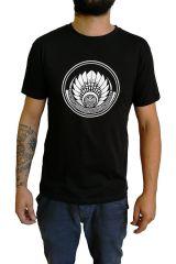T-shirt Noir en coton pour homme coupe droite et logo original maya James 297327
