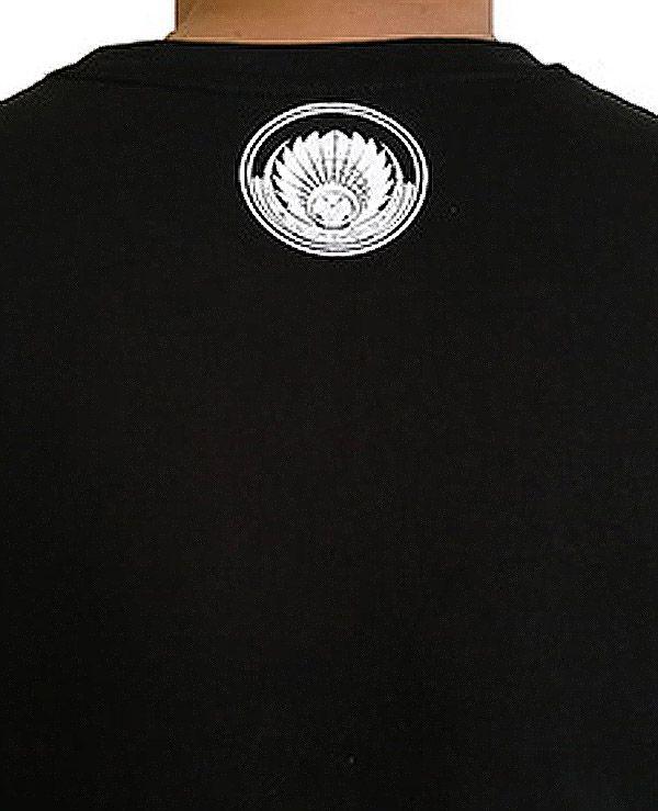 T-shirt Noir en coton pour homme coupe droite et logo original maya James 297328
