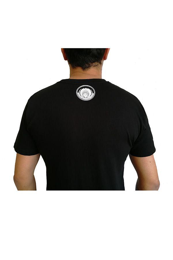 T-shirt Noir en coton pour homme coupe droite et logo original maya James 297329