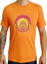 T-shirt Orange en coton pour homme coupe droite et logo original coloré James 297312