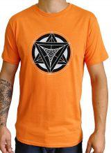 T-shirt Orange homme en coton avec logo géométrique Jake 297364