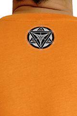 T-shirt Orange homme en coton avec logo géométrique Jake 297366