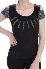 T-shirt original avec des manches ouvertes noir Narval 293889