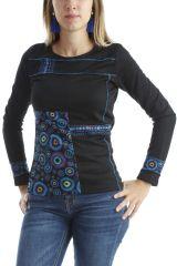 T-shirt original pour femme avec imprimés Noir Dawn 302515