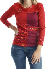 T-shirt original pour femme avec imprimés Rouille Dawn 302512