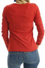 T-shirt original pour femme avec imprimés Rouille Dawn 302514