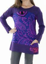 T-shirt pour enfant à manches longues violet 287597