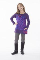 T-shirt pour enfant à manches longues violet 287598