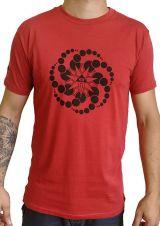 T-shirt Rouge à manches courtes avec imprimé fun Marcus 297540