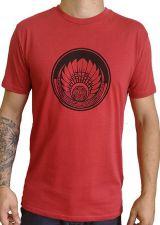 T-shirt Rouge en coton pour homme coupe droite et logo original maya James 297356