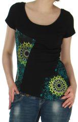 Tee-shirt à manches courtes Original et Asymétrique David Noir 283171