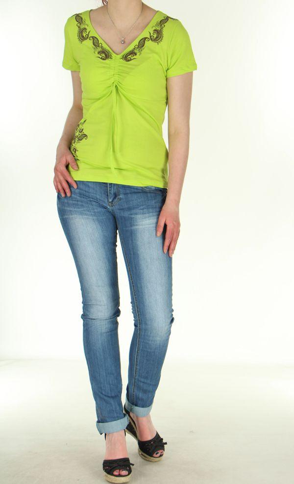 Tee-Shirt Anis pour femme Original et Ethnique Massia 282389