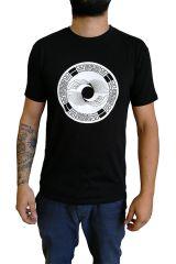 Tee-Shirt aux motifs Ethniques et Tribals pour Homme Larry Noir. 297244