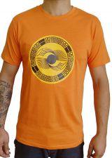Tee-Shirt aux motifs Ethniques et Tribals pour Homme Larry Orange 297562