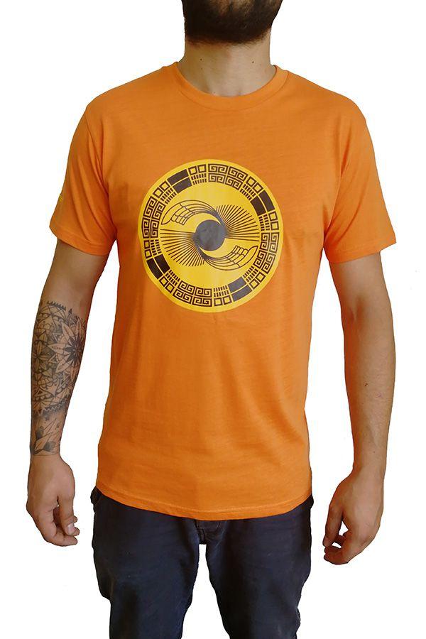 Tee-Shirt aux motifs Ethniques et Tribals pour Homme Larry Orange 297563
