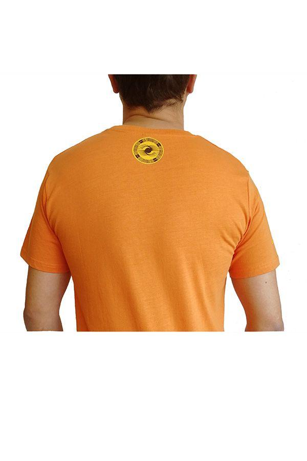 Tee-Shirt aux motifs Ethniques et Tribals pour Homme Larry Orange 297565