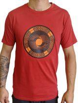 Tee-Shirt aux motifs Ethniques et Tribals pour Homme Larry Rouge 297570