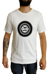 Tee-Shirt Blanc à connotation Maya imprimé et Original Braddy 297467