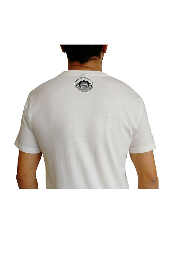 Tee-Shirt Blanc à connotation Maya imprimé et Original Braddy 297469