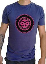 Tee-Shirt Bleu à connotation Maya imprimé et Original Braddy 297474