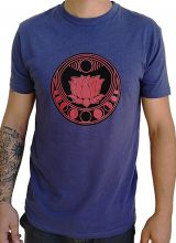 Tee-shirt Bleu pour homme à tendance Zen Lotus et au col rond 297458