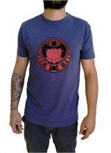 Tee-shirt Bleu pour homme à tendance Zen Lotus et au col rond 297459