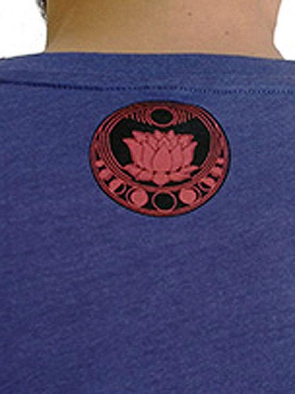 Tee-shirt Bleu pour homme à tendance Zen Lotus et au col rond 297460