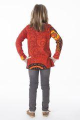Tee-shirt coloré pour fille à manches longues 287602