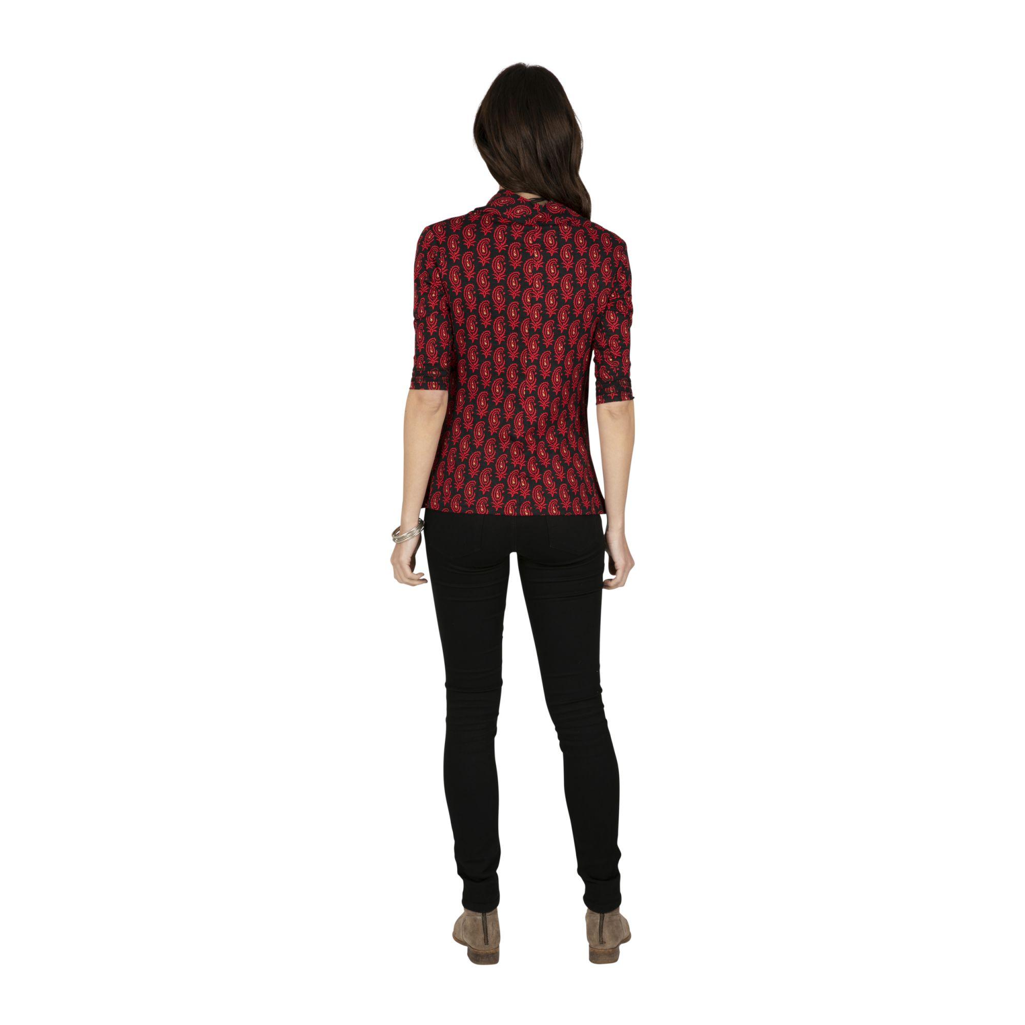 Tee-shirt coton bohème à manches 3/4 femme Lugazi