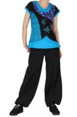 Tee-shirt du Népal abby col bleu 260911