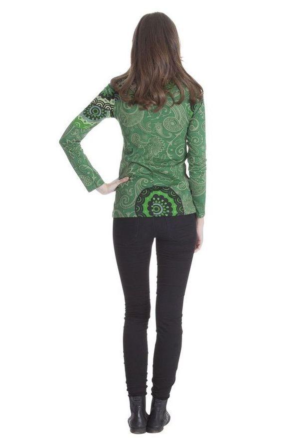tee shirt ethnique femme original avec imprim chloris. Black Bedroom Furniture Sets. Home Design Ideas