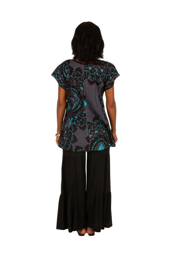 Tee-shirt féminin coupe ample en coton léger pour l'été Jessy 306229