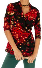 Tee shirt féminin et original avec cache-cœur Melissa 312783
