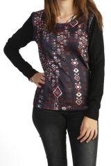 Tee-shirt femme à manches longues imprimé amérindien 287752