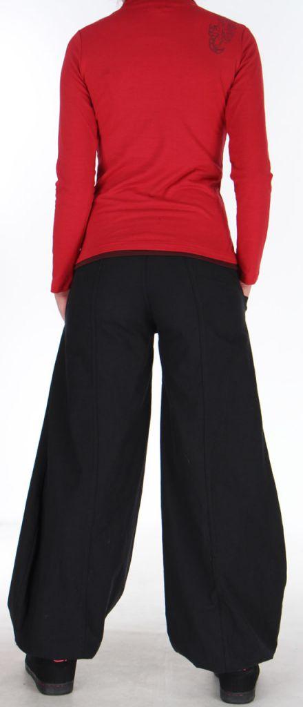 Tee-shirt Femme à manches longues Original à motifs Tribals Jim Rouge 279205