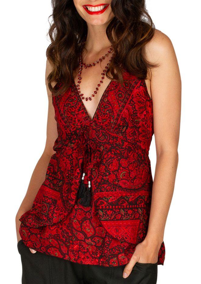Tee-shirt femme avec effet de superposition original Marinie 309004
