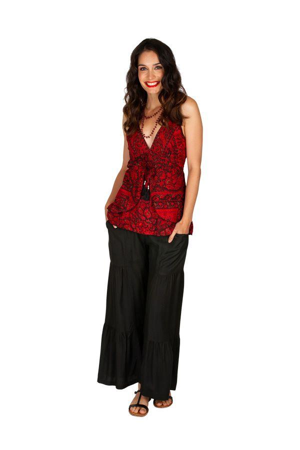Tee-shirt femme avec effet de superposition original Marinie 309005