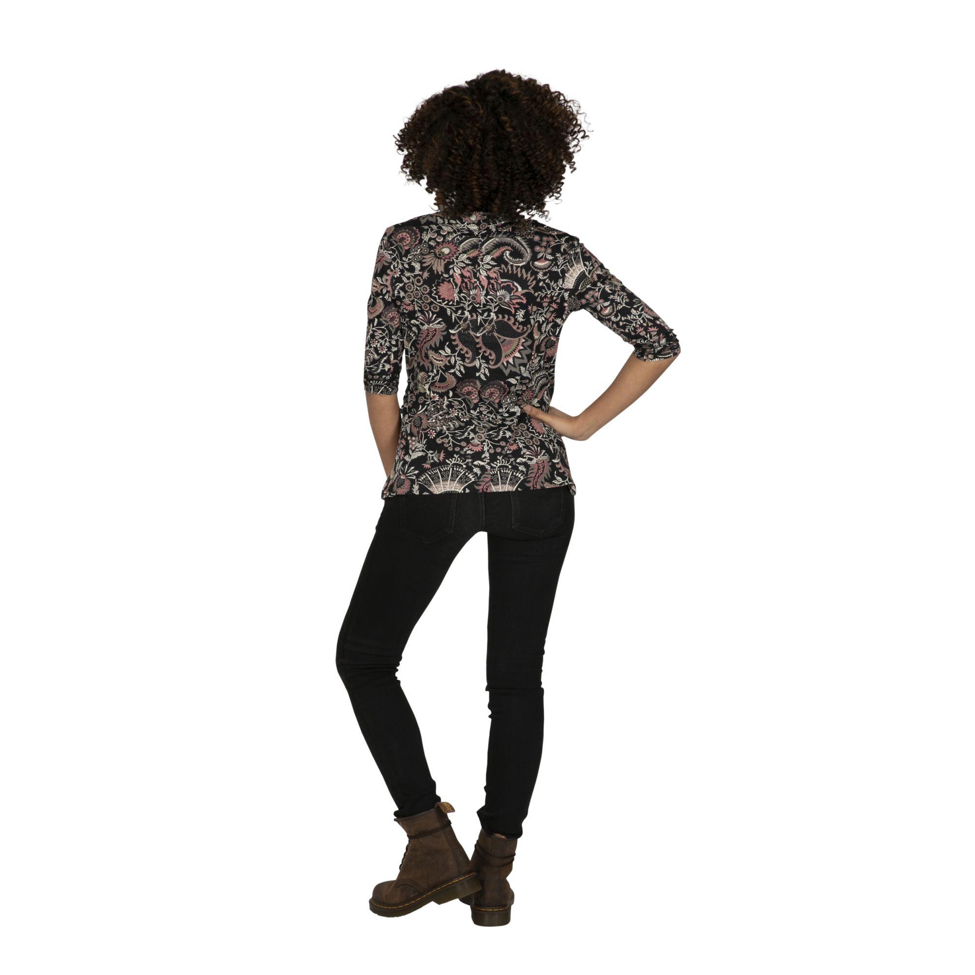 Tee-shirt femme bohème aux manches 3/4 Mukono