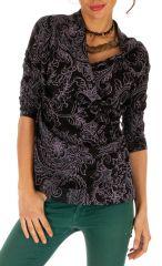 Tee shirt femme imprimé avec col croisé Melissa 312777